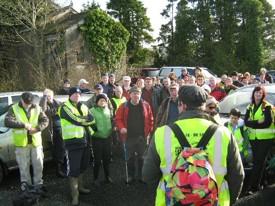 Setting out from Abbeyfeale on the Great Southern Trail which was officially opened on Saturday last by Minister Leo Varadkar