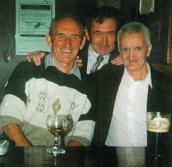 Johnny pictured on the right with Timmy & Sean Hanrahan in The Kingdom Pub in Kilburn, London in 1995