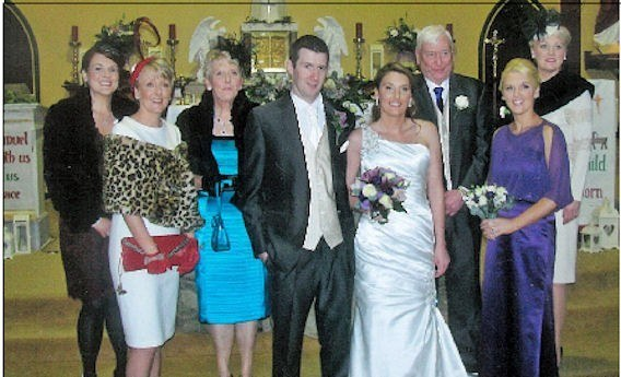 The wedding of Emma Mullane, daughter of Paddy & Kathleen, Templeathea to Dave Mulvihill of Barragougeen, Moyvane, along with Emma's family.