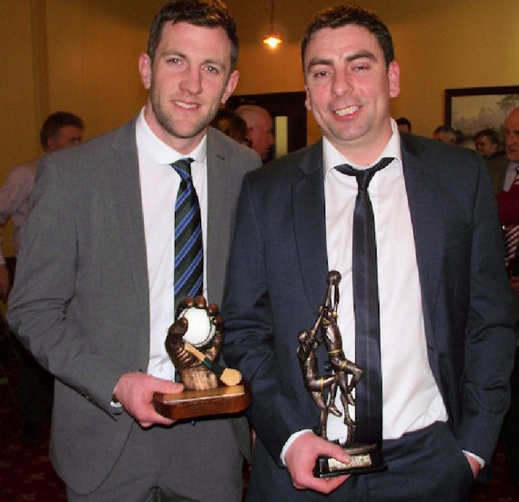 Paul Collins, West Intermediate Football All Star Award winner with Limerick Senior Hurling Captain Donal O' Grady