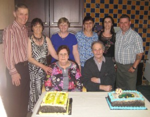 Congratulation's to Patsy & Josie O' Sullivan, Toureen Donnell on their 60th wedding anniversary and also their son Liam who celebrated his 40th Birthday with a joint party last weekend.