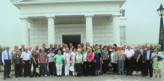 Group from Athea and surrounding areas pictured at Áras An Úachtarán on a recent day trip