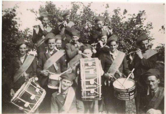 The Dalton Memorial Band in the mid 40's. Can anyone name them all?