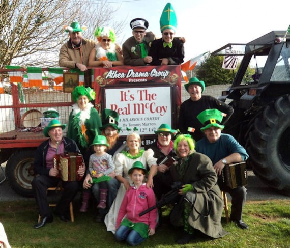 Athea Drama Group and Athea Wrenboys ready for the parade in Abbeyfeale on St. Patrick's Day