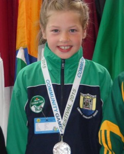Clodagh Ahern who took the silver medal in the U9 Gymnastics at the National Community Games Finals in Athlone last Saturday