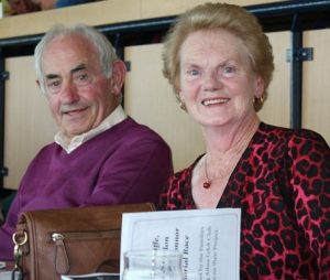 Michael & Kitt O'Connor,  Lower Rd, enjoying the recent Athea GAA 'Night at the Dogs' at Tralee Greyhound Stadium