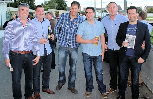 Mike Hayes, John Cotter, Pa Chawke, Matthew Tierney, Brian McKenna & Brian Ahern supporting the Athea GAA 'Night at the Dogs'