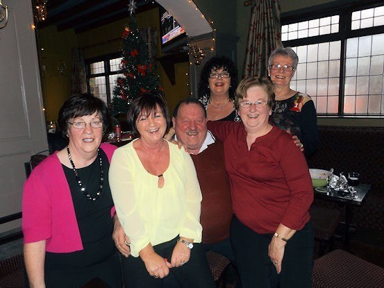 Eileen O'Sullivan, Mary Quinn Keane, Johnny Cotter, Maireád Langan, Maureen Mulvihill & Peggy Casey enjoyed catering for the Going Strong Christmas Party