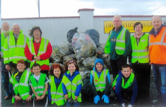 Athea Tidy Towns committee with helpers for the big clean-up on Good Friday