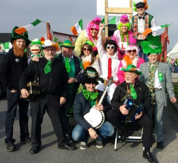 "The best float in the Abbeyfeale parade on St. Patrick's Day. The Athea Drama Group ""Hens go to Vegas"""