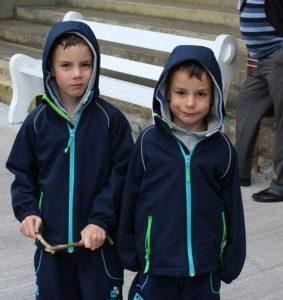 Daniel and Aaron Broderick enjoying the Féile match