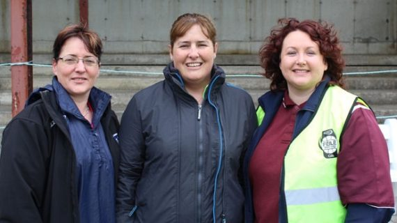 Limerick Bord na nÓg Officers, Breda Breen and Mary Hassett with Jacqueline O'Connor, Féile co-ordinator enjoying the Féile match in Athea on Saturday morning last.