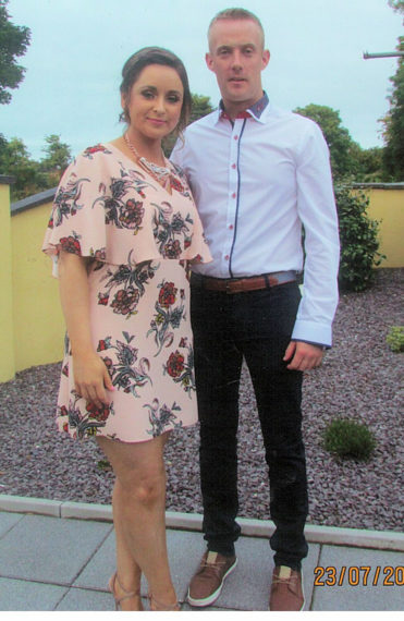John Geoghegan pictured on his 30th birthday with his girlfriend Karen Greaney of TempleAthea