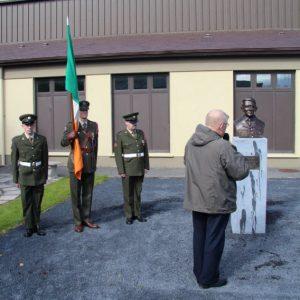 Fr. Brendan Duggan blessing the bust