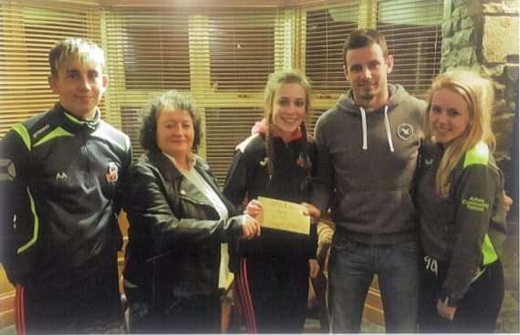 The Vixens Basketball Club would like to thank sincerely the Ladies Monthly Night Out group for their generous donation which was presented to them at Brown Joe's Bar by Teresa O'Halloran and Mark Reidy. It was greatly appreciated.